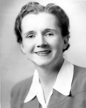 Rachel Carson (1907-1964), wildlife biologist and alleged angel of death.